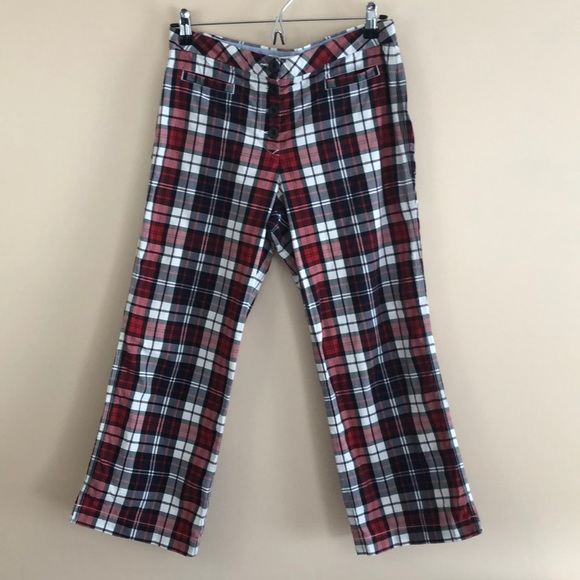Tommy Hilfiger Pants - Tommy Hilfiger Checkered Crop Pants
